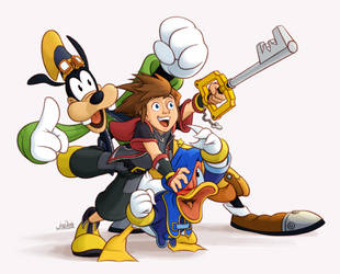 Kingdom Hearts Disneyfied - Sora by The-Quill-Warrior