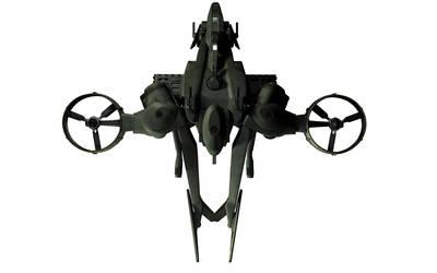 C-22 Viper Attackship - WIP 7 by MandesDesign