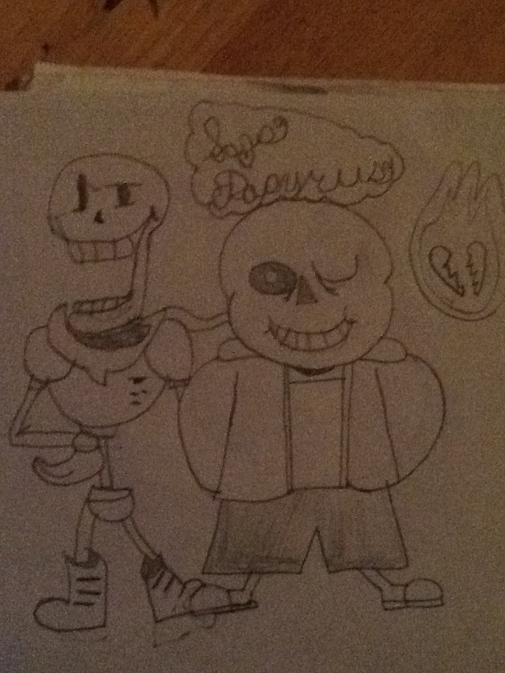 Sans and Papyrus by JonPeter123