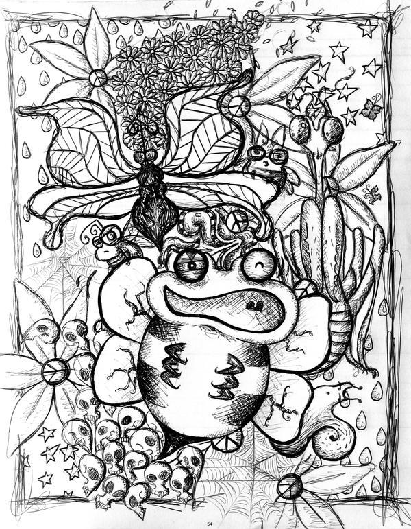 Easy Trippy Mushroom Drawings