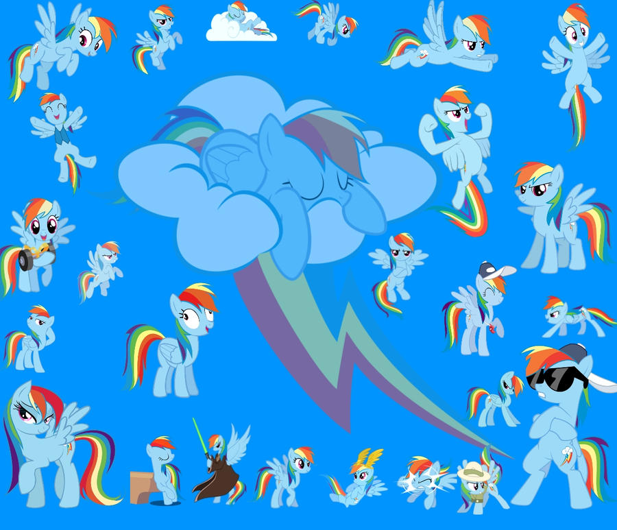 Mlp Wallpapers: My Little Pony Rainbow Dash Wallpaper By WheatleyFangirl