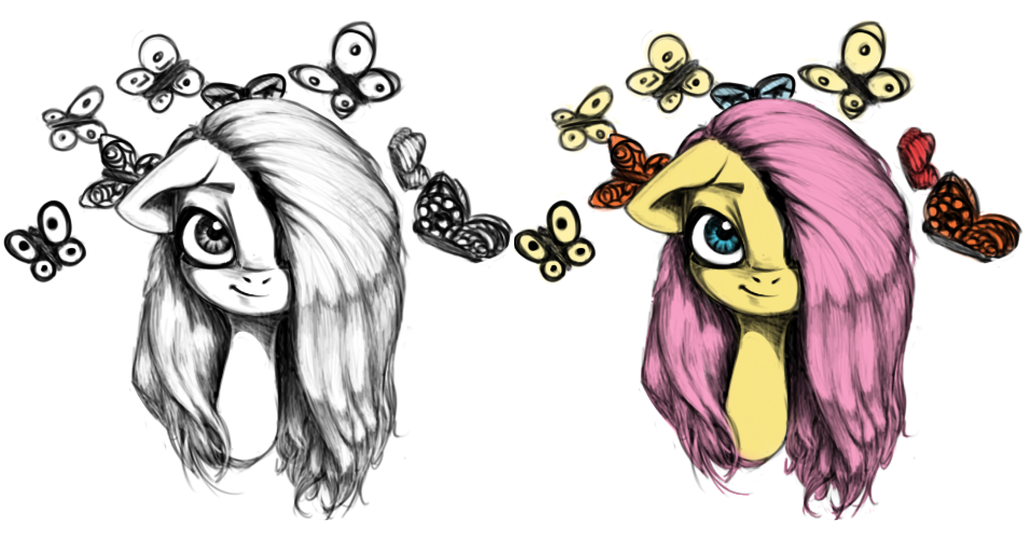 Fluttershy by limchph2