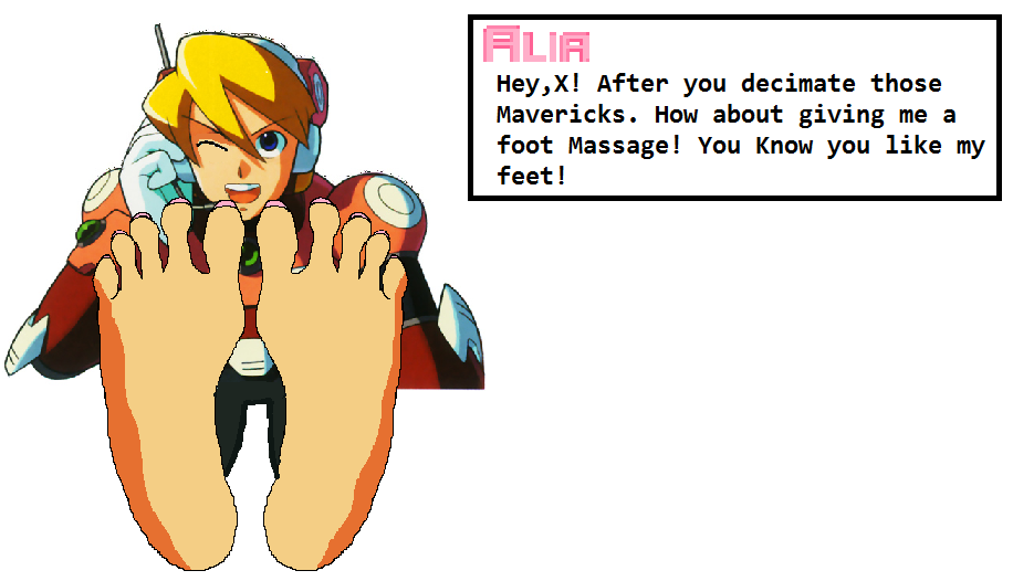 Deviantart Megaman Alia Inflation: Alia Wants A Foot Massage By Megaman-dbz On DeviantArt