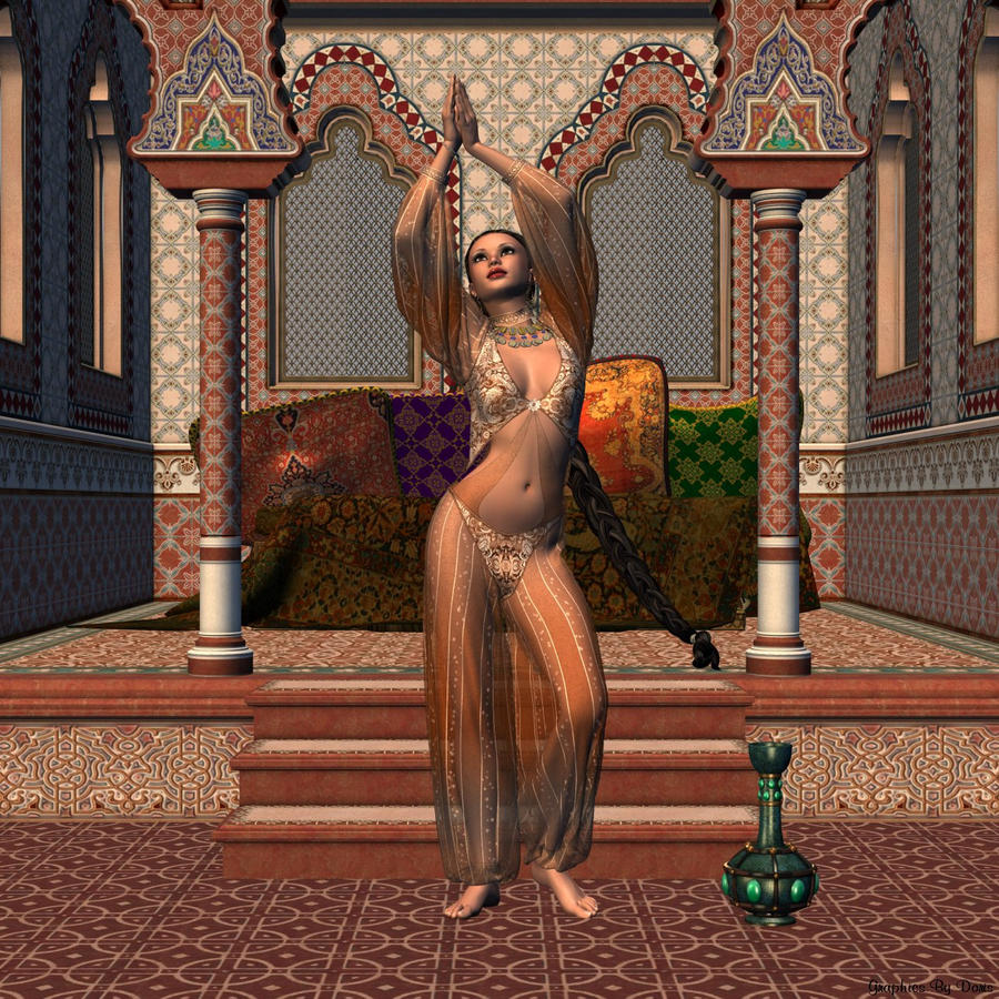 Danza árabe Arabian_harem_nights_by_merrygrannyde-d3ah1yw