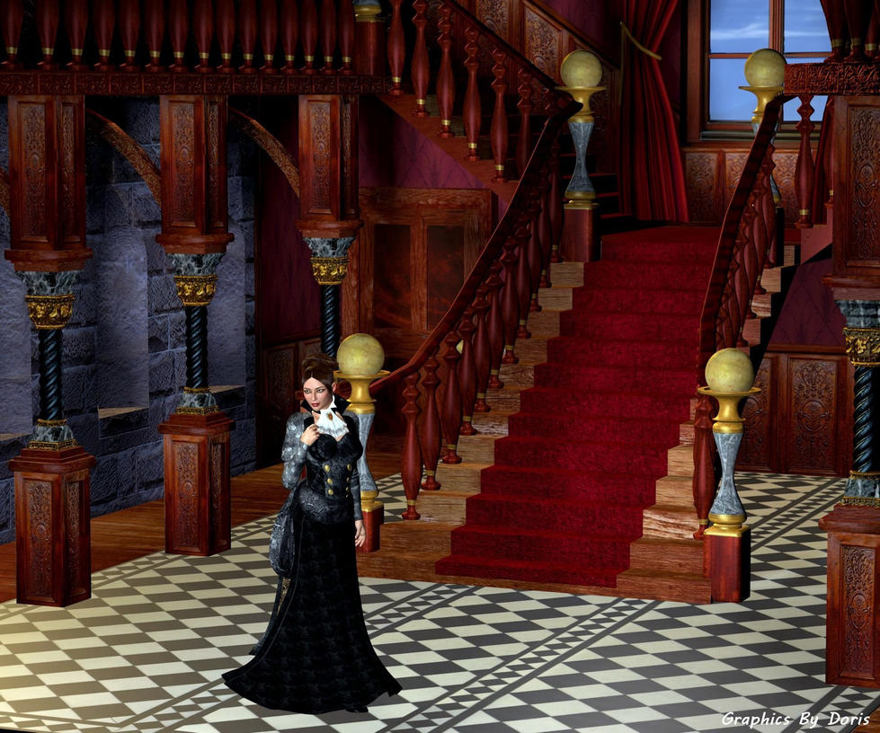 The Crimson Staircase by merrygrannyde