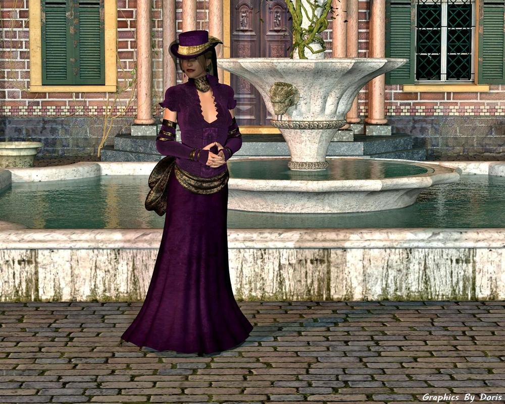 Lady In Purple by merrygrannyde