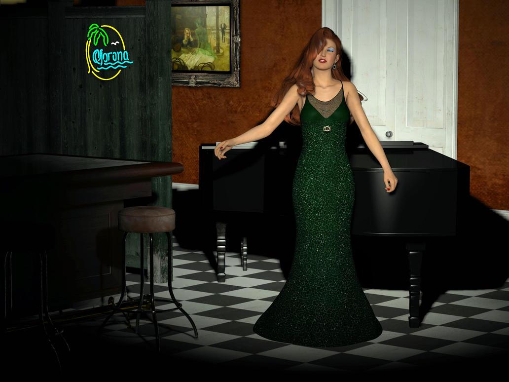 The Lounge Singer by merrygrannyde
