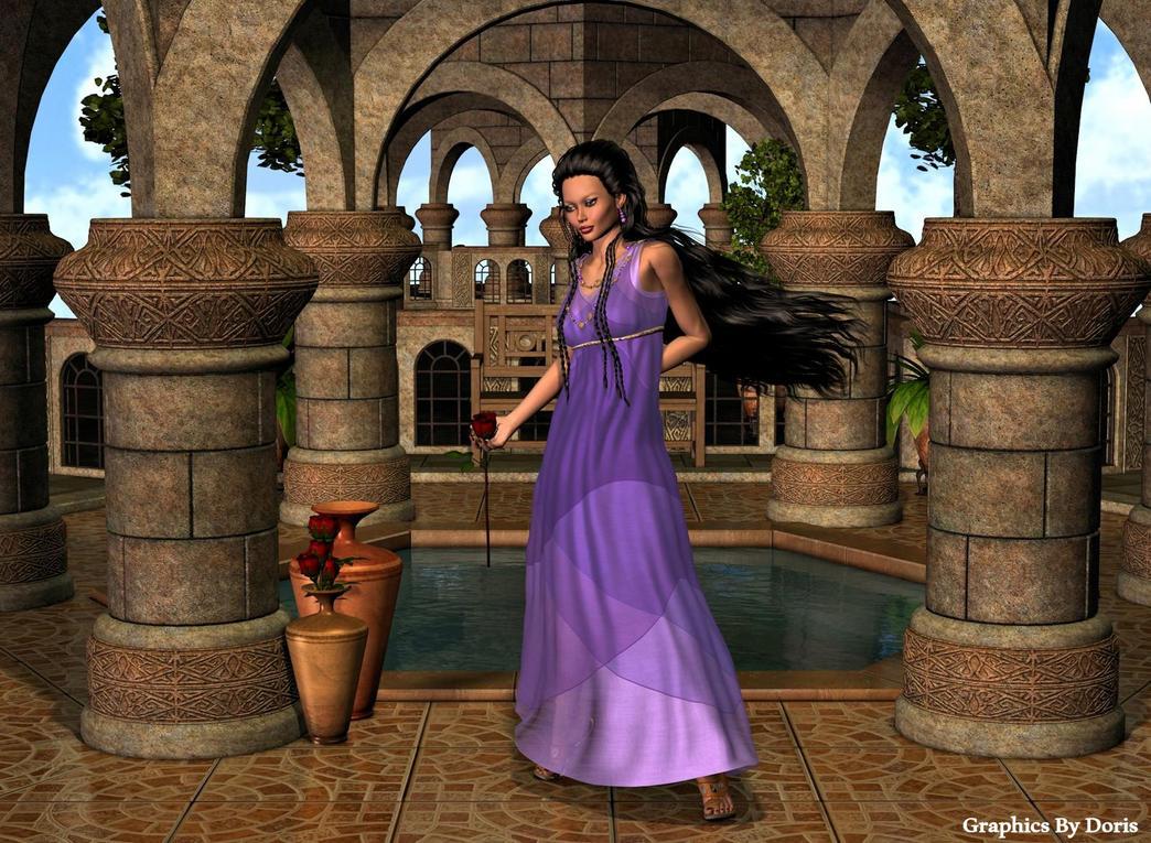 Greek Garden by merrygrannyde