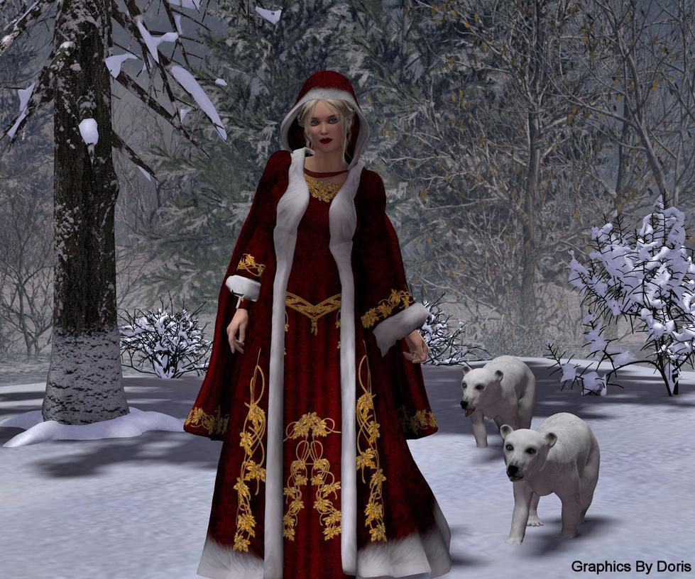 Winter Stroll by merrygrannyde