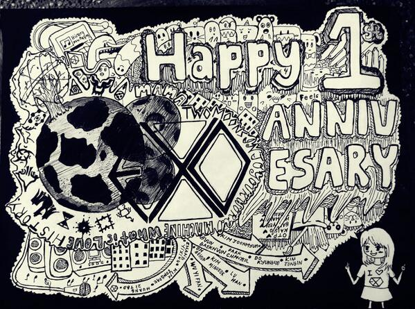 For their st anniversary lol it was mispelled by gloriepearl on
