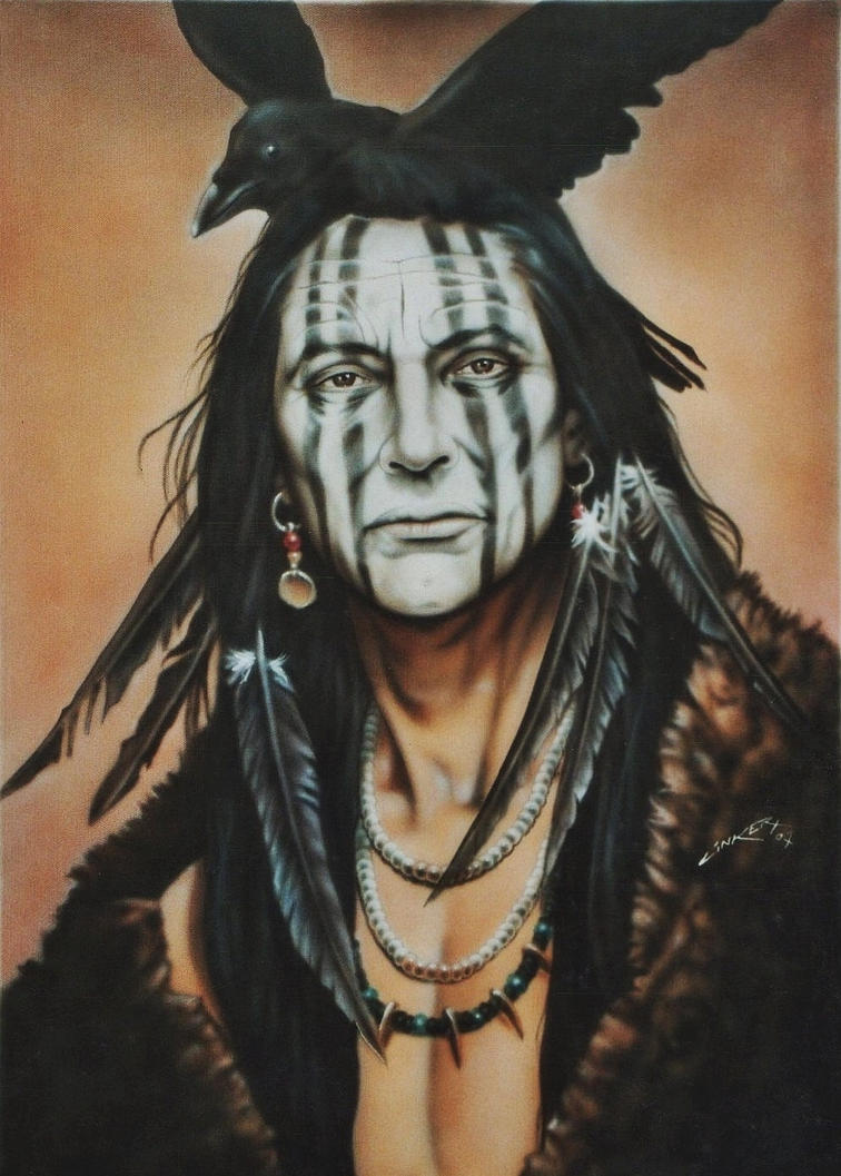 Crow Tribe Face Paint