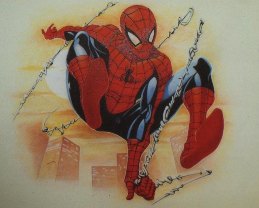 Spiderman mural 1 close up by linkerart on deviantart - Poster mural spiderman ...