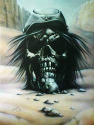 Confederate skull by linkerart