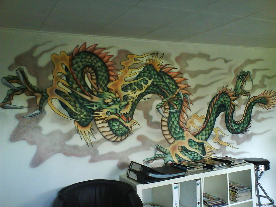 chinese dragon mural by linkerart on deviantart