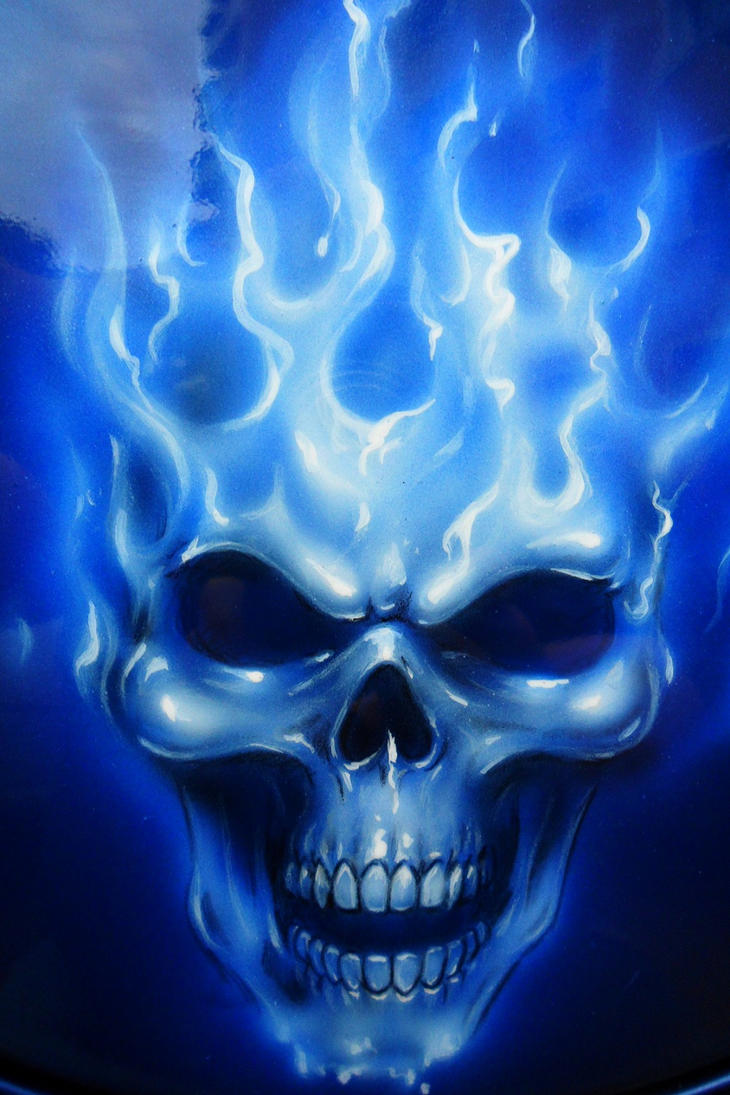 Flame N Skull Close Up By Linkerart On Deviantart