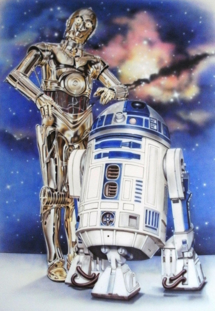 R2d2 And C3po C3PO and R2D2 Mural by...