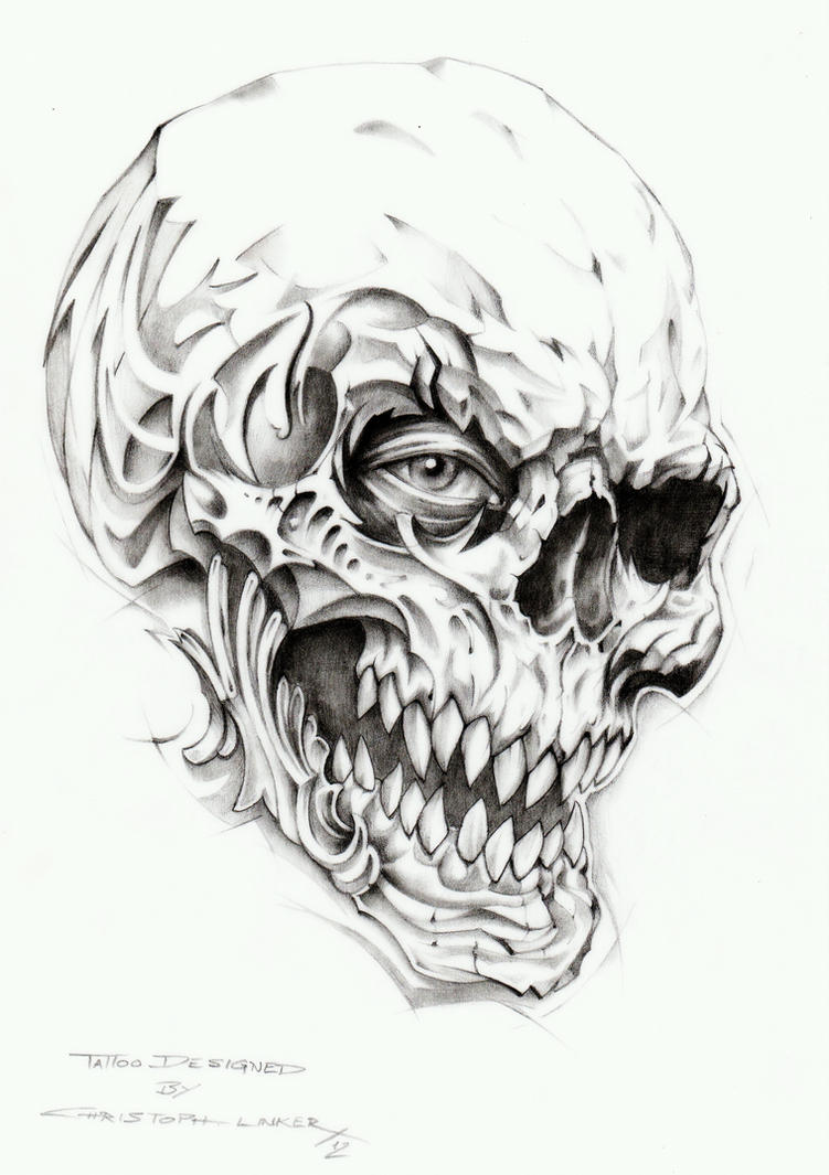 skull pictures to draw