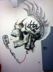Ugly Skulls Mural