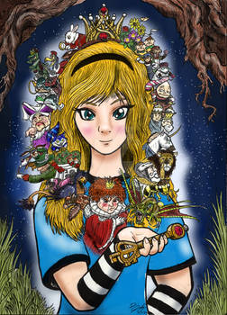 Alice of Wonderland, Colorized