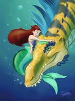 Ariels Real Best Friend, Redraw by DevinQuigleyArt
