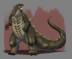 Kaijune 2018 Day 30, Godzilla  by DevinQuigleyArt