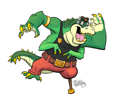 Duke Crocodile, Dr. Crafty OC by DevinQuigleyArt