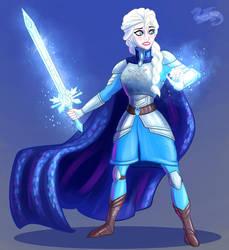 Elsa on Guard