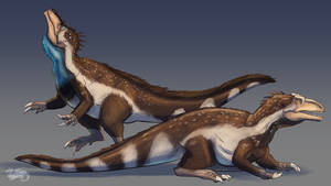 CO, LWPaleoart, Murusraptor Pair