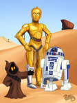 Star Wars April, C3-PO And R2-D2