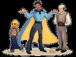 Star Wars April, Lando, Lobot, And Ughnaught