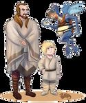 Star Wars April, Qui-Gon, Anakin, And Watto