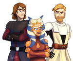 Anakin, PT Obi-Wan, And Ahsoka