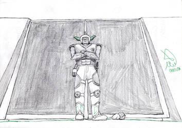 El guardian de la puerta/The gatekepper by Solaire-Jhonson