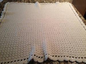 Cream Blanket Unfolded