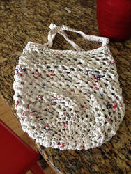 Plarn Market Tote Laid Out