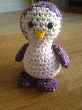 Purple Crochet Penguin