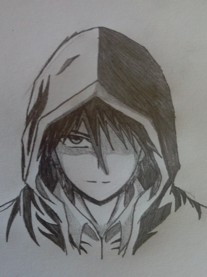 Hooded Guy Doodle By JacJaeger