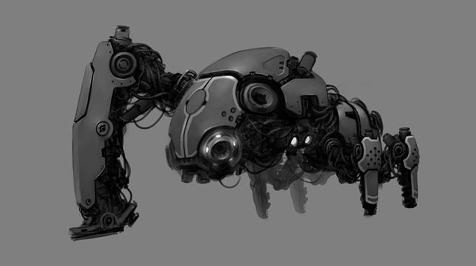 Mecha Concepts again by Kurunya