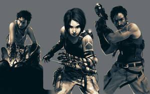 Main Characters by Kurunya