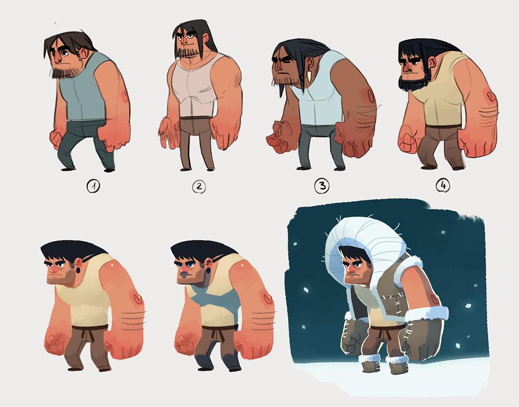 Eskimo character concept by Kurunya