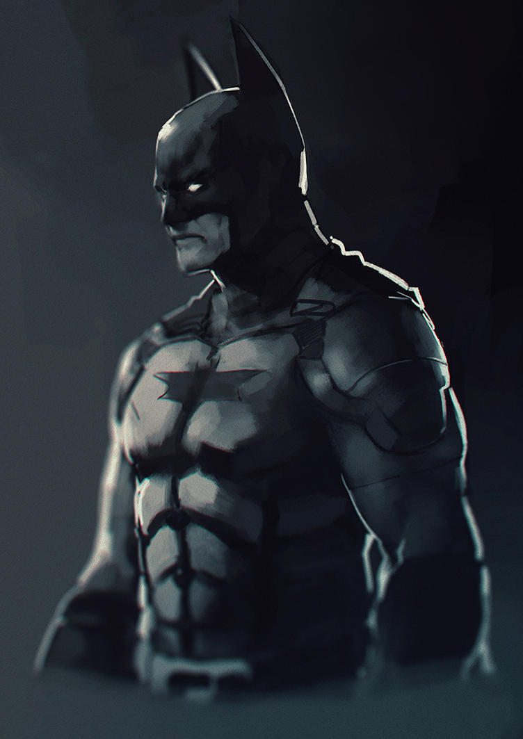 Dark knight, kind of by Kurunya