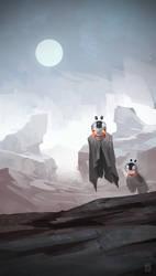 desert ghosts by Kurunya