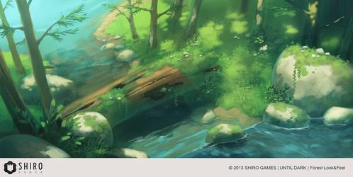Until Dark - Forest 1 by Kurunya
