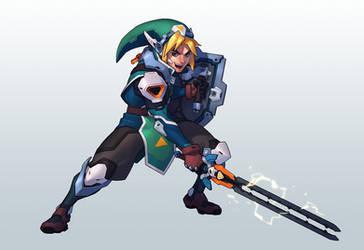 CDChallenge Legend of Zelda - Link by Kurunya