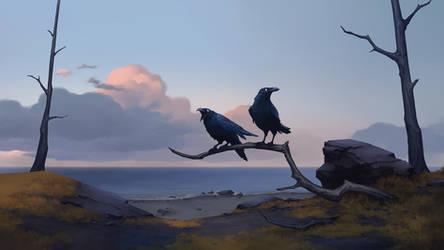 Huginn and Muninn, Clan of the Raven - NORTHGARD by Kurunya