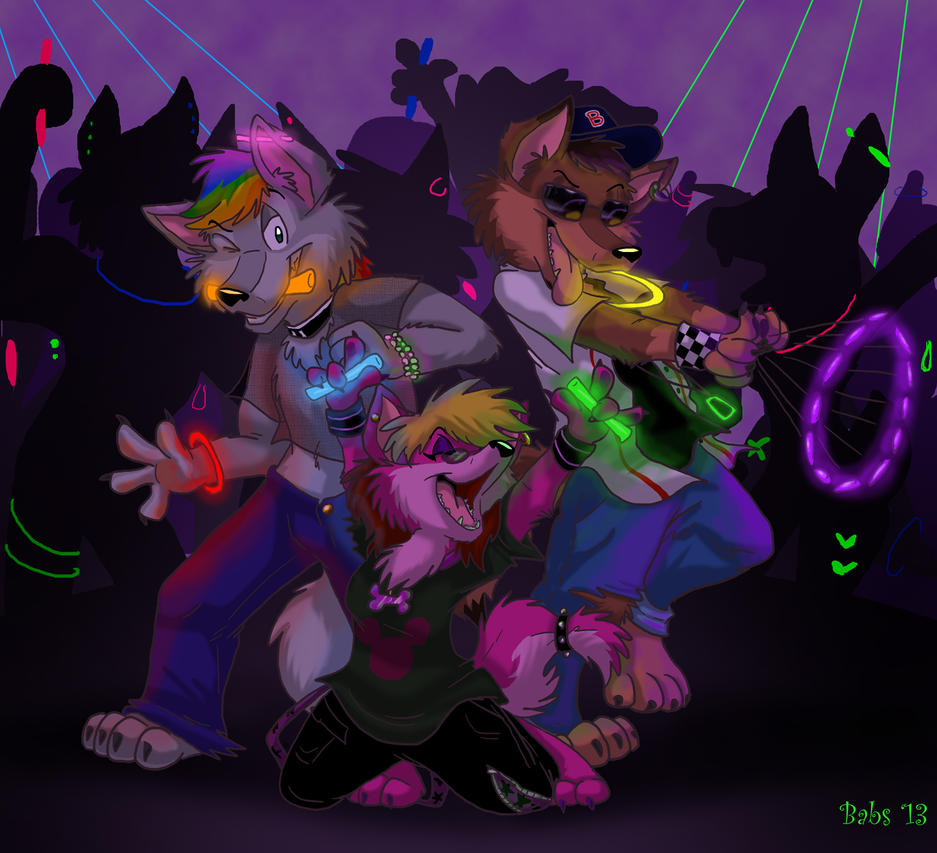 RAVER PUPS!!!!! by TDotBabs