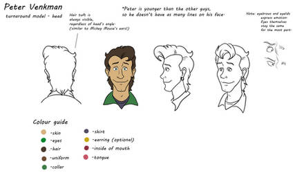 Real Ghostbusters model sheet:  Peter Venkman by TDotBabs