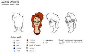 Real Ghostbusters model sheet: Janine Melnitz
