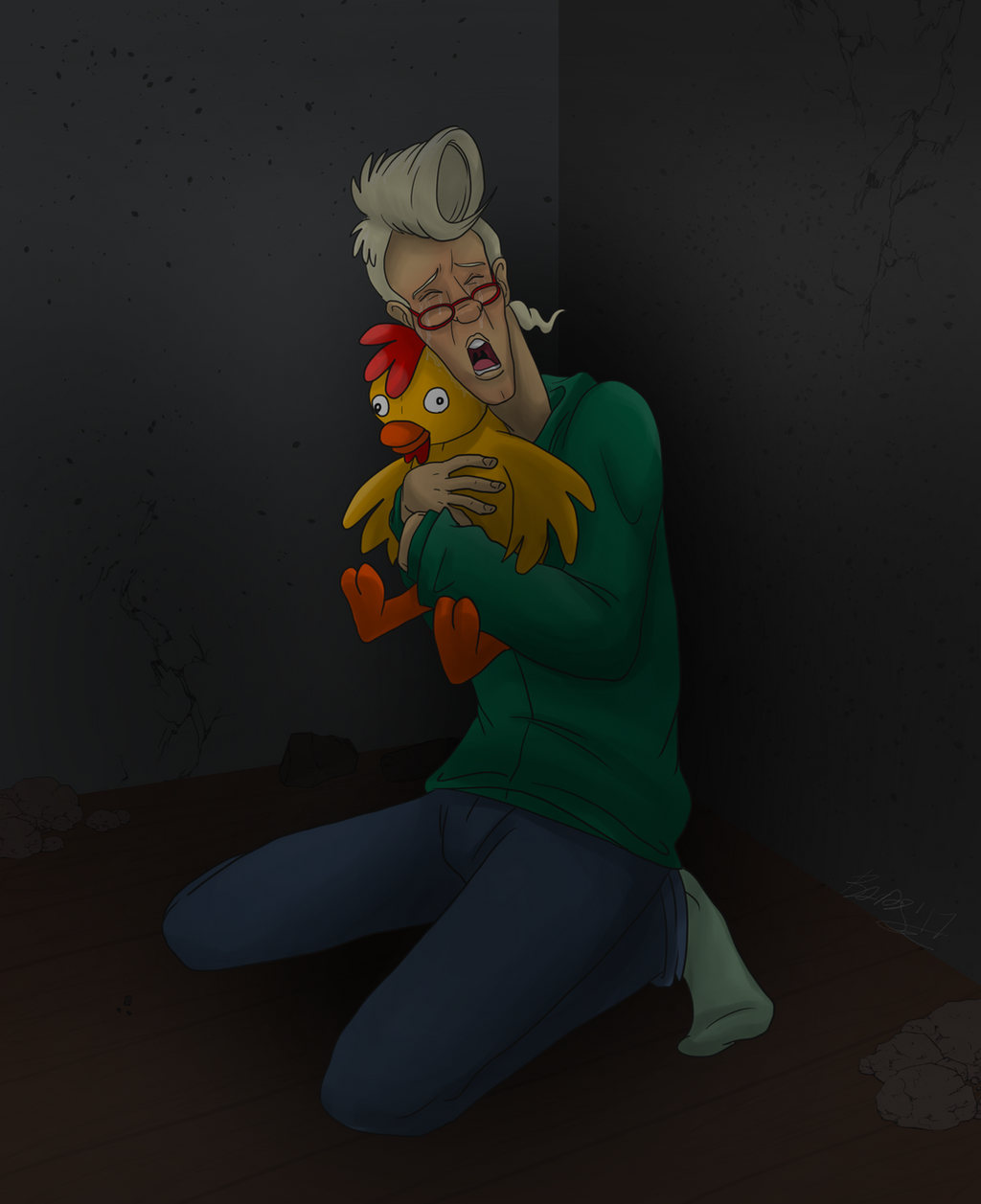 Armageddon with a Chicken by TDotBabs