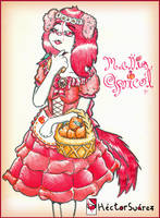 Mellia Apricot - OC by Numbsoul